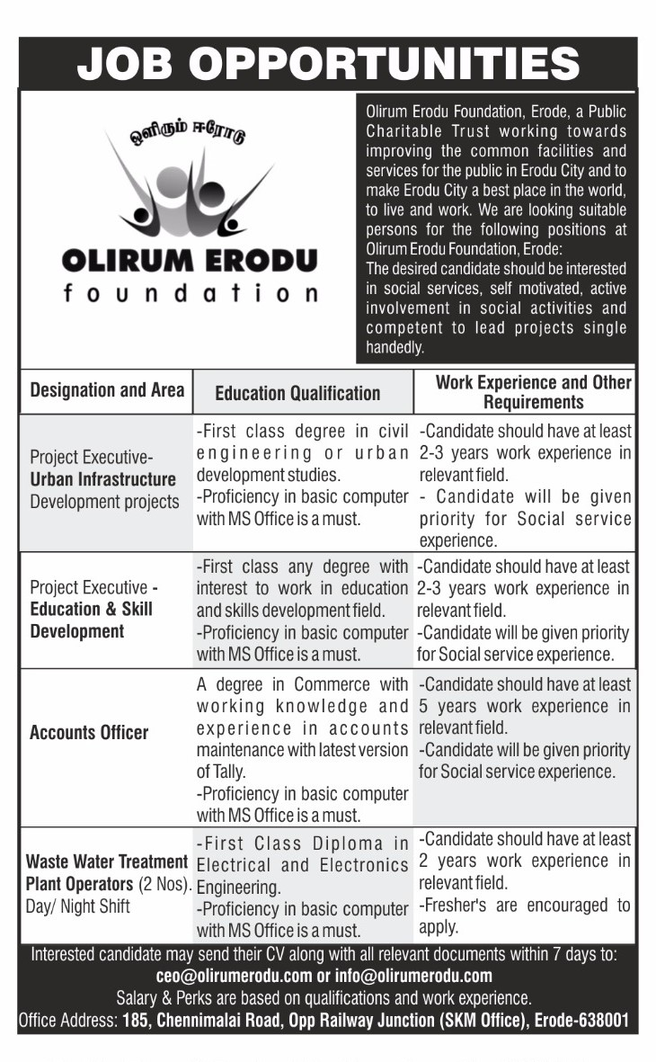 Jobs at Olirum Erodu Foundation-2017